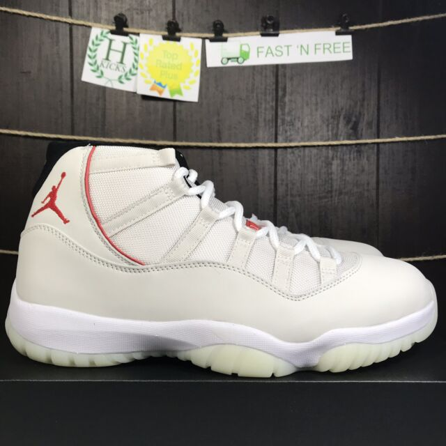 840000004ea Nike Air Jordan 11 Retro Platinum Tint University Red XI 378037 016 Size  10.5 OG