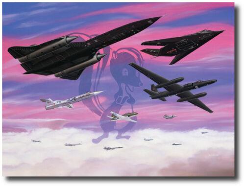 Aviation Art Print Skunkworks Airplanes SR71 Lockheed Legends by Mike Machat