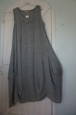 100/% COTTON BALLOON MAXI DRESS LIGHTWEIGHT V NECK BNWT LAGENLOOK ETHNIC HIPPY