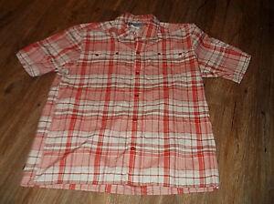Men-039-s-COLUMBIA-Convest-Short-Sleeve-Button-Front-Shirt-Sz-Large-L-Poly-Blend