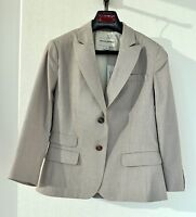 NWT Banana Republic Lightweight Beige Stone Lined Cotton Jacket Blazer ~ Sz 8