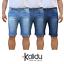Bermuda-Uomo-Jeans-Denim-Corto-Tasche-America-Pantaloncino-Blu-Shorts-Casual-t miniatura 1