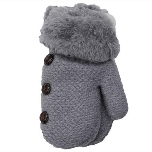 Children Baby kids Full Finger Gloves Winter Warm Leaf Mittens Stretchy Gloves