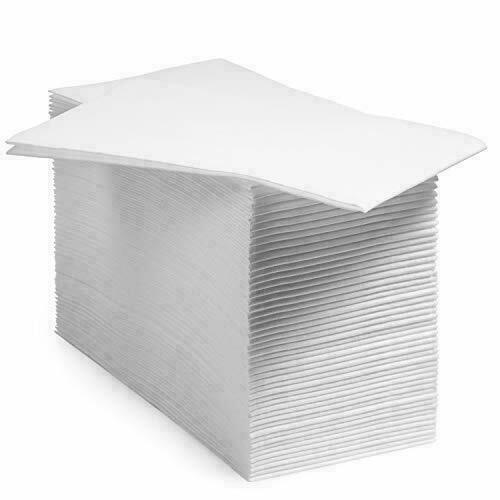 AMAZING GOODS White Disposable Soft Linen Feel Napkins and Hand Towels 200ct