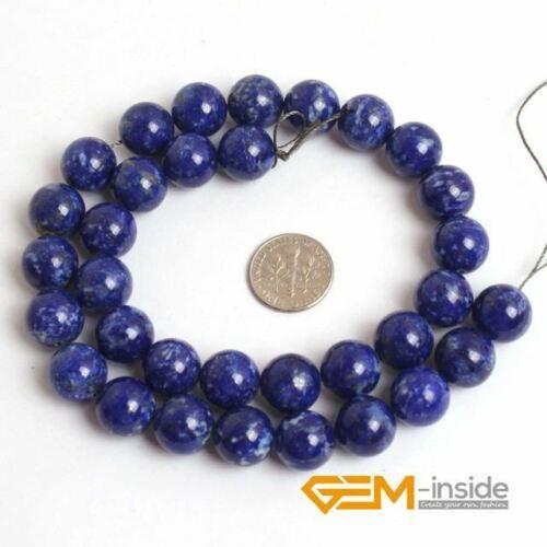 Rond Bleu Lapis Lazuli Perles Naturelles Lapis Lazuli Pierre À faire soi-même Loose Beads pour juif