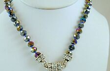 Kirks Folly Crystal Interchangeable Magnetic Necklace Iridescent Purple