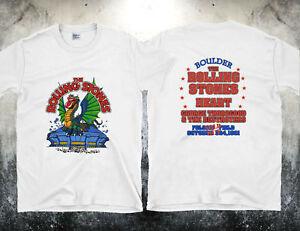 Details about GILDAN Vintage T-shirt Rolling Stones Dragon Stadium 1981  Reprint Size S - 2XL