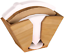 Details about  /Unibene Bamboo Coffee Filter Holder Coffee Paper Storage Container Dispenser Ra
