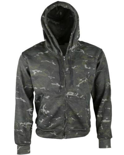 Les adultes Zip complet DPM Camo Camouflage Sweat À Capuche Armée Sweat à Capuche Pêche Chasse