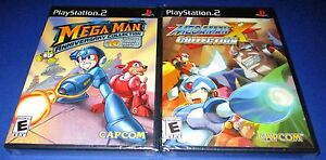 Mega-Man-Anniversary-amp-X-Collection-PS2-Bundle-Factory-Sealed-Free-Shipping
