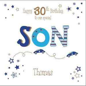 Personalised 30th birthday card son brother husband any agename image is loading personalised 30th birthday card son brother husband any bookmarktalkfo Images