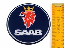 SAAB ★ 4 Stück ★ SILIKON Ø55mm Aufkleber Emblem Felgenaufkleber Radkappen