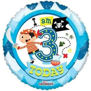 Image Is Loading 3rd FOIL HELIUM BALLOON PIRATE BOYS BIRTHDAY PARTY