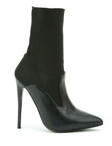 LOST-INK-SIZE-4-8-JULIET-BLACK-HIGH-HEEL-STILETTO-SEXY-ANKLE-BOOTS-NEW-RP-55-00