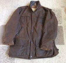 Men's Backhouse Barbour Bushman Jacket Large Brown
