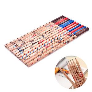 12x-lapiz-Bon-Voyage-HB-escuela-novedad-escribir-lapiz-de-madera-para-ni-ws