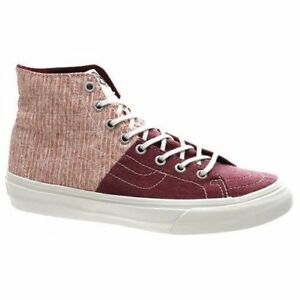 7eff00d654 VANS Sk8 Hi Decon SPT (Stripes) Washed Tawny Port Skate Shoes ...
