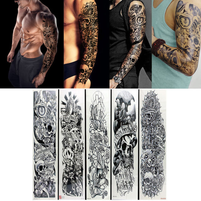 c5685331d Frequently bought together. 5pcs Temporary Tattoo Waterproof Large Arm Body  Art Tattoos Sticker Sleeve Safe
