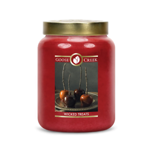 ☆☆WICKED TREATS☆☆LARGE GOOSE CREEK CANDLE JAR 24 OZ.☆☆FREE EXPEDITED SHIPPING