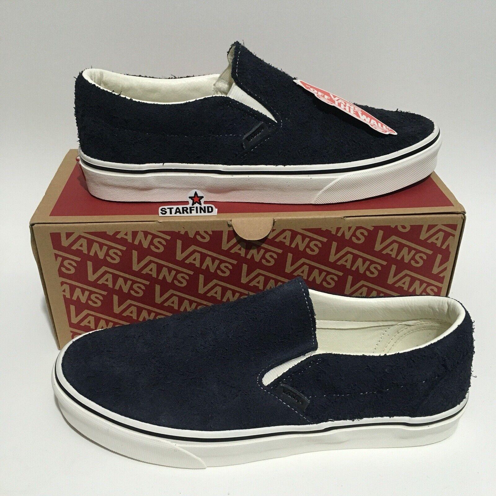 Vans Classic Slip-On Hairy Suede Sky Captain Size Men 9.5 - Women 11 shoes