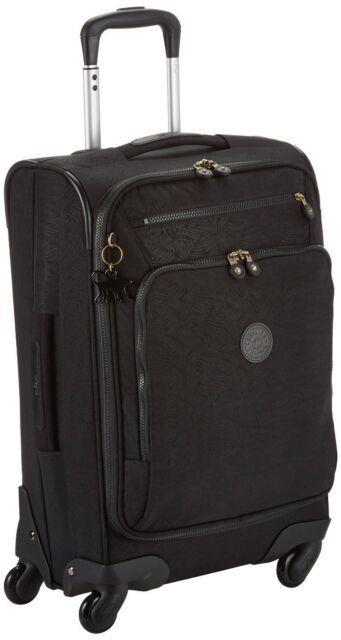 629b75dfb97 Kipling Youri Spin 55 Spinner Trolley Black Leaf Cabin Luggage for ...