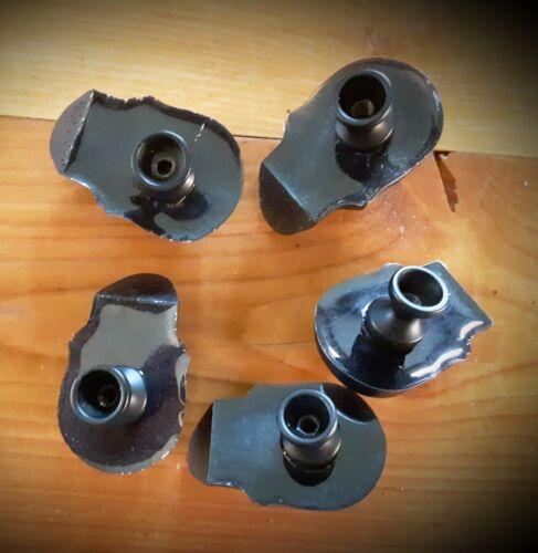 Set of 5 Black Resin Skull Drawer Pull Cabinet Knobs