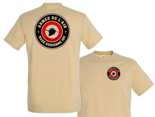 "T shirt /"" BA 105 Armée de l/'air /""  tshirt TEESHIRT AIR crew EVREUX FAUVILLE"