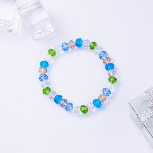 Elastic Stretch Beaded Bracelet Natural Charm Crystal Bangle Women Jewelry Gift