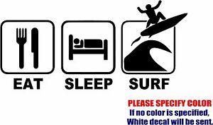 "Eat Sleep Hike Graphic Die Cut decal sticker Car Truck Boat Window Bumper 7/"""
