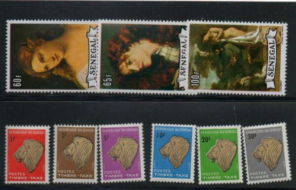 1966 Afrique Senegal Lot Taxe Neufs ** Mnh Y&t N° 473-474-475-37-38-39-40-41-42
