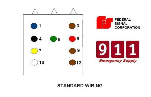 federal pa300 siren wiring diagram federal signal pa4000 siren system for sale online ebay  federal signal pa4000 siren system for