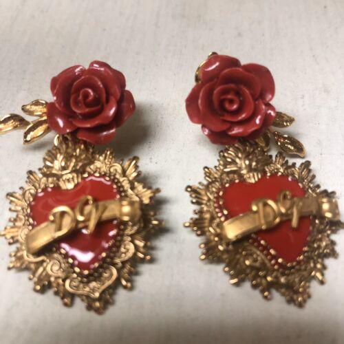Dolce & Gabbana Runway Sacred Heart Clip-on Earrin