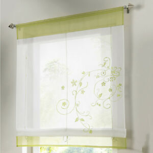 Image Is Loading Embroidered Roman Blinds Liftable Sheer Window Curtain Panel