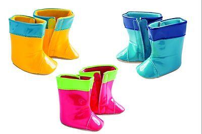 ) Zapatos de muñeca, Zapatos para muñecas, botas, botas de agua, 3 Farben