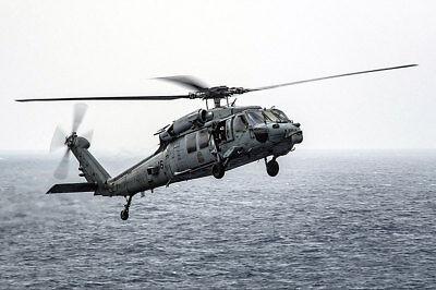Luftfahrt & Zeppelin Strong-Willed Mh-60s Sea Hawk Schwarz Ritter Hsc 4 Hubschrauber 12x18 Silber Halogen Fotodruck