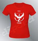 Tee shirt personnalisé femme Pokemon go Team Instinct Mystic Valor