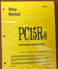 Komatsu Service PC15R-8 Shop Repair Manual NEW