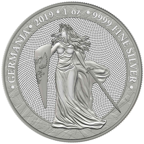 5 Mark Silberunze Germania 1 Unze oz Silber Silver BU 2019