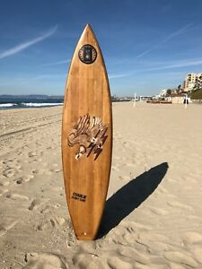 SURFBOARD-WEBSTER-HAND-CRAFTED-ORIGINAL-Vintage-1st-Calvary-Charlie-Don-039-t-Surf