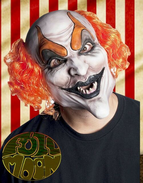 New Devilish Clown Mask Circus Carnival Evil Creepy Scary Halloween Costume