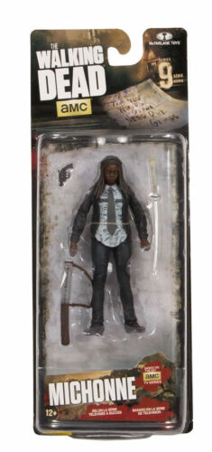 THE Walking Dead Series 9 Action Figure Sigillata Daryl e Michonne FREEPOST