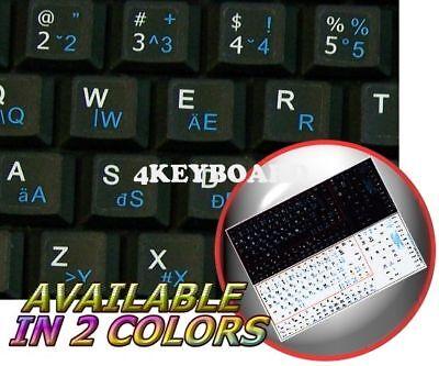ENGLISH HUNGARIAN NETBOOK KEYBOARD STICKER WHITE