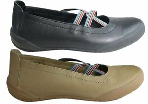 NEW-ORIZONTE-LYN-WOMENS-EUROPEAN-COMFORTABLE-MARY-JANE-LEATHER-FLAT-SHOES