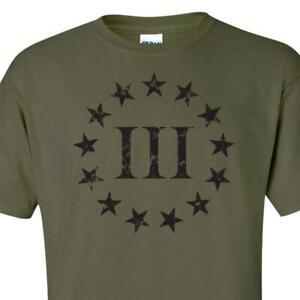 Veterans Before Refugees Three Percenter Shirt Back Print