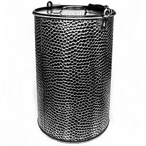 25 liter metalleimer verzinkt geh mmert ascheeimer ascheimer m lleimer sw m d. Black Bedroom Furniture Sets. Home Design Ideas