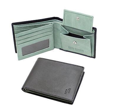 Starhide Mens Thin Slim Minimalist Leather Credit Card Holder Wallet 1215-Brown