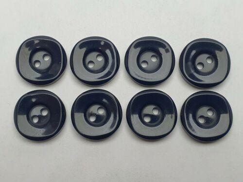316 Farbe Dunkelblau Hohe Qualität Knöpfe Knopf  Kunststoff 13mm 8 St