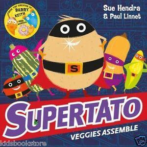 Preschool-Story-Book-SUPERTATO-VEGGIES-ASSEMBLE-by-Sue-Hendra-NEW