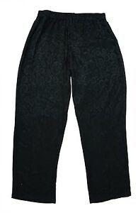 Womens-18-24-Stretch-Jacquard-Black-Trousers-Gothic-Range-Ladies-LICK