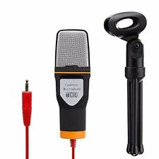 Tonor 3.5mm Condenser Sound Podcast Studio Microphone For Laptop PC Black